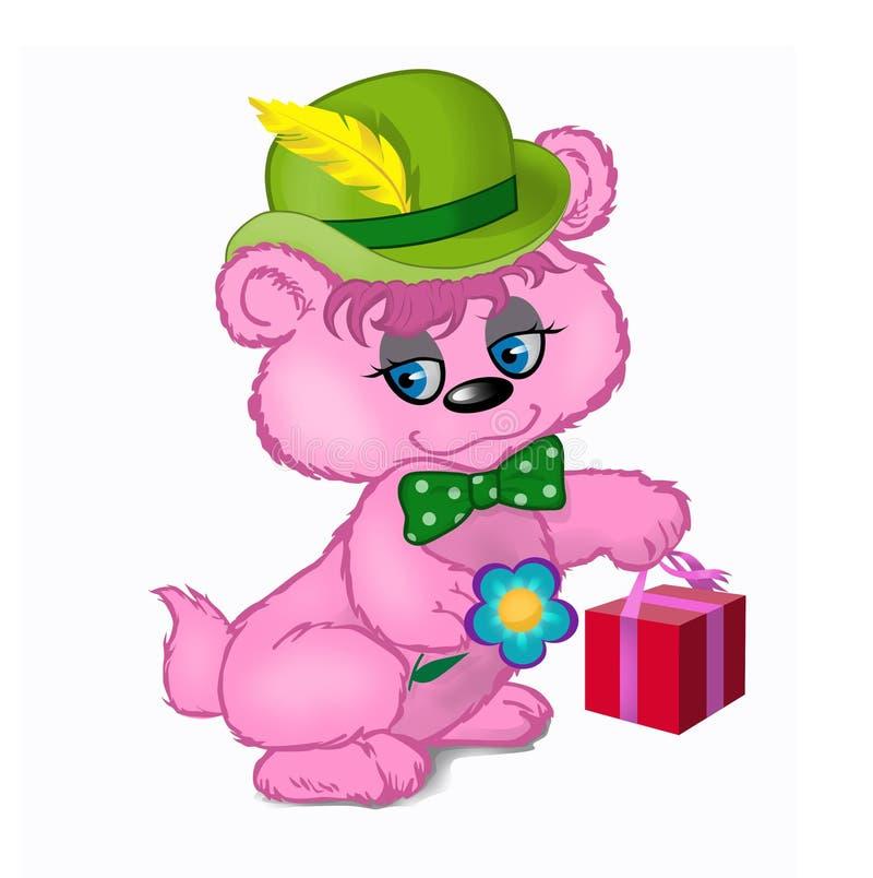 ρόδινος teddy ελεύθερη απεικόνιση δικαιώματος