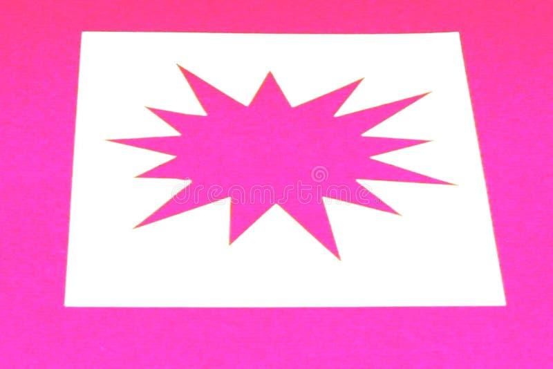 ρόδινο αστέρι έκρηξης Στοκ Φωτογραφία