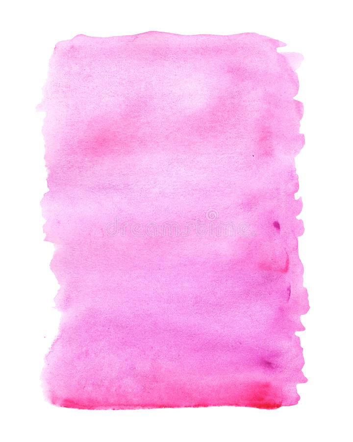Ρόδινο αφηρημένο υπόβαθρο με τους λεκέδες watercolor στο άσπρο κλίμα ελεύθερη απεικόνιση δικαιώματος