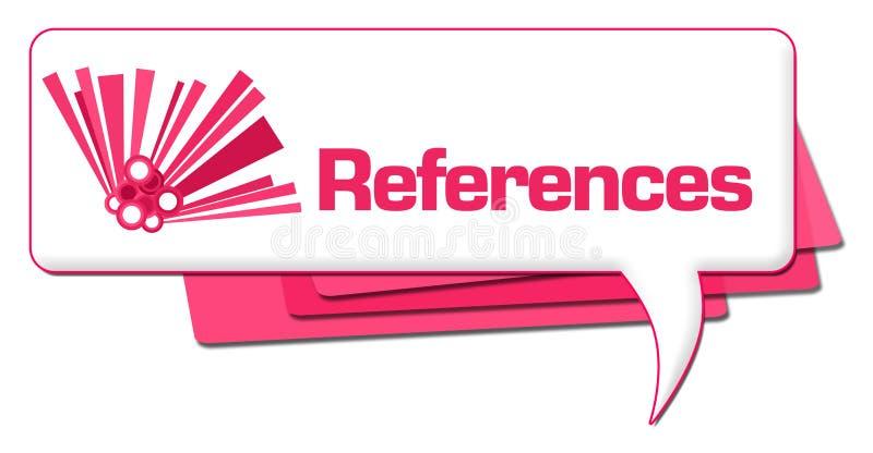 Ρόδινο γραφικό σύμβολο σχολίου αναφορών διανυσματική απεικόνιση