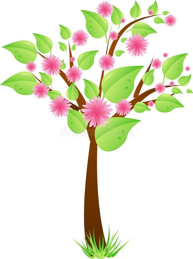 ρόδινο δέντρο φύλλων λου&lamb ελεύθερη απεικόνιση δικαιώματος