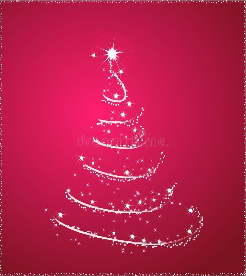ρόδινο δέντρο Χριστουγένν&om απεικόνιση αποθεμάτων