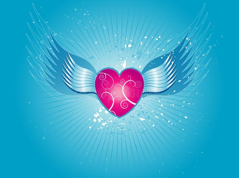 ρόδινο διάνυσμα καρδιών ελεύθερη απεικόνιση δικαιώματος