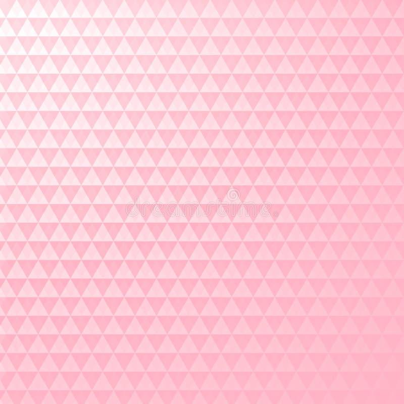 Ρόδινο και άσπρο γεωμετρικό αφηρημένο υπόβαθρο ελεύθερη απεικόνιση δικαιώματος