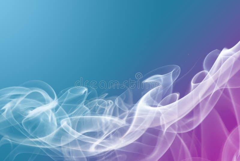 Ρόδινο και κυανό αφηρημένο υπόβαθρο καπνού στοκ φωτογραφίες με δικαίωμα ελεύθερης χρήσης