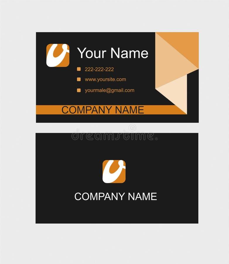Ρόδινο και μαύρο πρότυπο επαγγελματικών καρτών απεικόνιση ελεύθερη απεικόνιση δικαιώματος