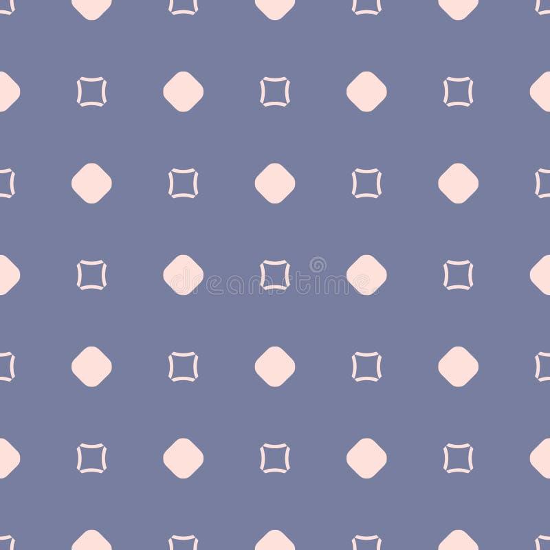 Ρόδινο και μπλε διανυσματικό άνευ ραφής σχέδιο Αφηρημένη μινιμαλιστική γεωμετρική σύσταση απεικόνιση αποθεμάτων