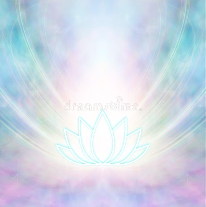 Ρόδινο και τυρκουάζ ιερό υπόβαθρο συμβόλων Lotus διανυσματική απεικόνιση