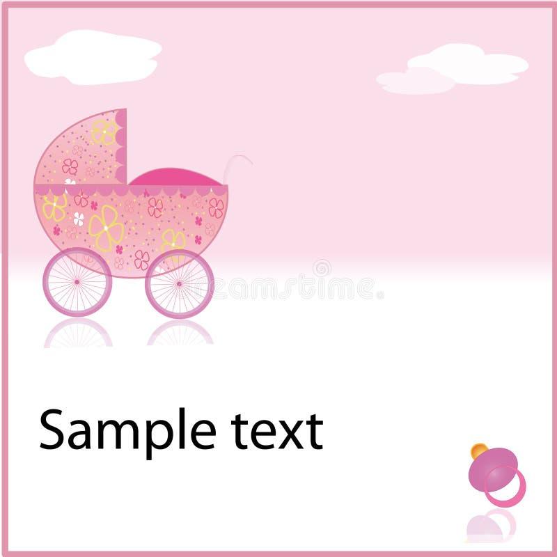 ρόδινο καροτσάκι κοριτσ&io στοκ εικόνα με δικαίωμα ελεύθερης χρήσης