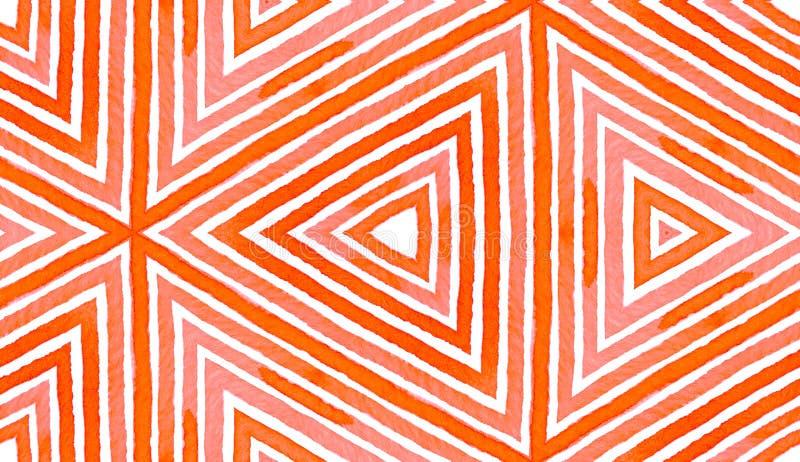 Ρόδινο κόκκινο γεωμετρικό Watercolor Ευχάριστος άνευ ραφής διανυσματική απεικόνιση