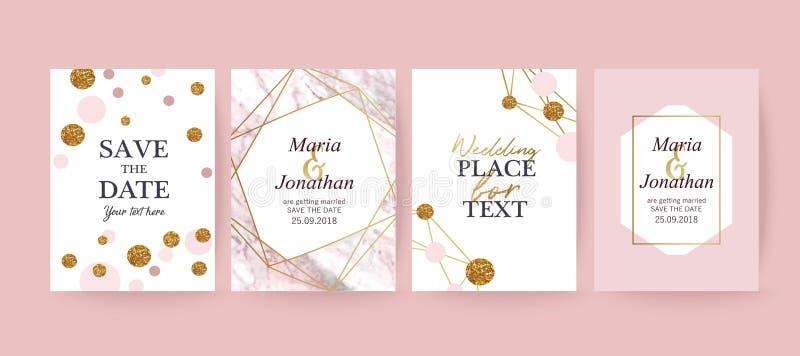Ρόδινο μαρμάρινο και χρυσό υπόβαθρο σύστασης, κάρτα απεικόνιση αποθεμάτων