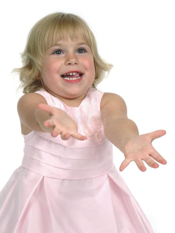 ρόδινο μικρό παιδί φορεμάτων στοκ εικόνα με δικαίωμα ελεύθερης χρήσης