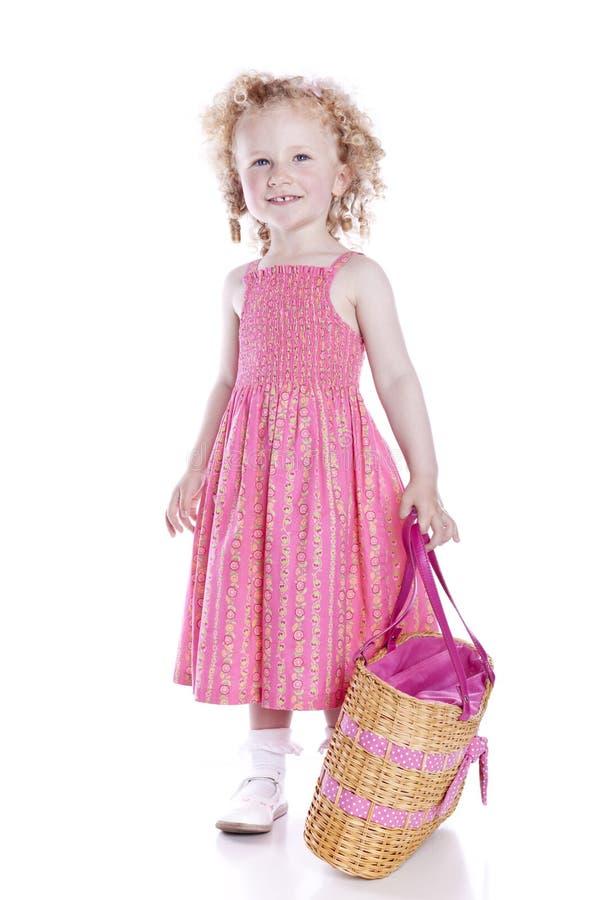 ρόδινο μικρό χαμόγελο φορ&ep στοκ εικόνες με δικαίωμα ελεύθερης χρήσης