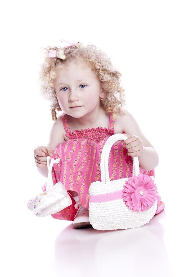 ρόδινο μικρό χαμόγελο φορ&ep στοκ εικόνα με δικαίωμα ελεύθερης χρήσης