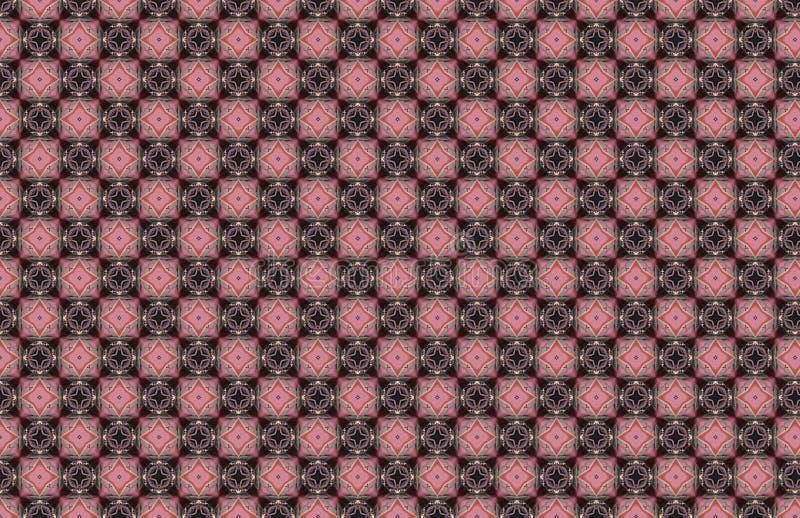 Ρόδινο μπλε γεωμετρικό αφηρημένο σχέδιο τετραγώνων διαμαντιών διανυσματική απεικόνιση