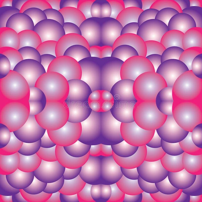 Ρόδινο πορφυρό άσπρο Psychedelic υπόβαθρο απεικόνισης τέχνης καλειδοσκόπιων στοκ φωτογραφία με δικαίωμα ελεύθερης χρήσης