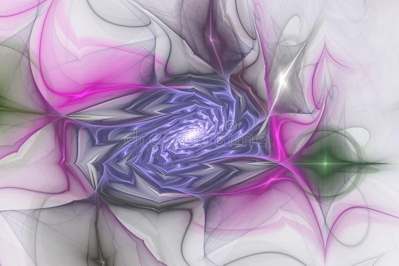 Ρόδινο πορφυρό fractal fraktal γεωμετρικό σχεδίων ταπετσαριών σχέδιο ιπτάμενων κάλυψης υποβάθρου τέχνης artsy ελεύθερη απεικόνιση δικαιώματος