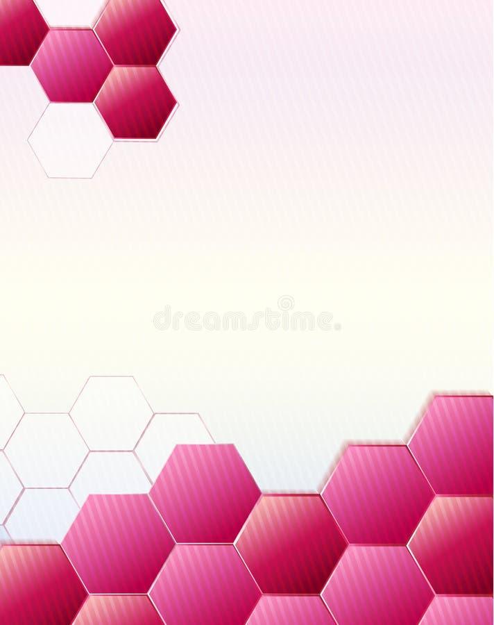 Ρόδινο σύγχρονο polygonal πρότυπο beauty cosmetic health spa σχεδιαγράμματος ιπτάμενων φυλλάδιων σχεδίου ελεύθερη απεικόνιση δικαιώματος