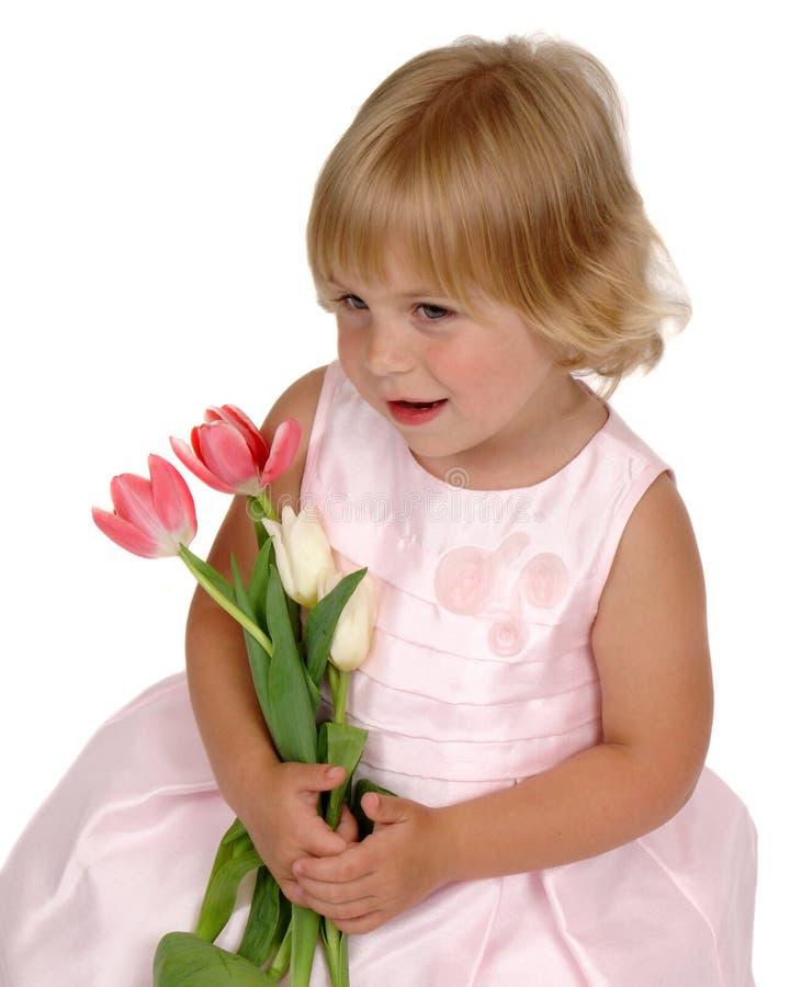 ρόδινο χαμόγελο φορεμάτω& στοκ εικόνες με δικαίωμα ελεύθερης χρήσης