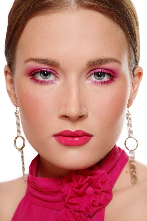 Ρόδινο makeup στοκ εικόνες