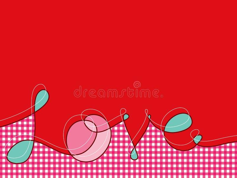 ρόδινο plaid αγάπης γραμμών loopy ελεύθερη απεικόνιση δικαιώματος