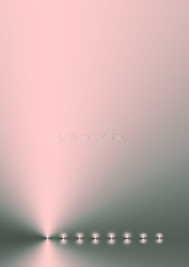 ρόδινο shimmer κοραλλιών ασήμι διανυσματική απεικόνιση