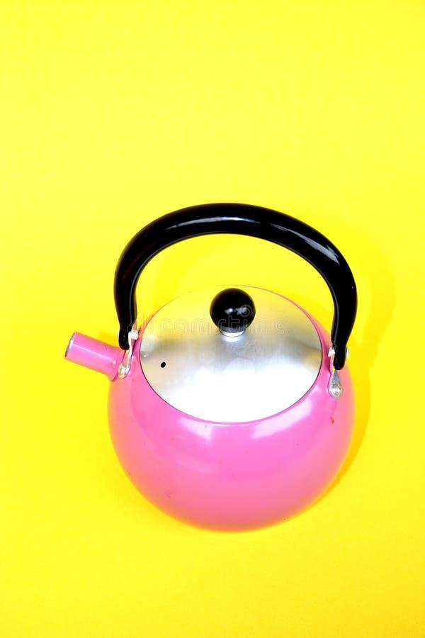 ρόδινο teapot στοκ εικόνα με δικαίωμα ελεύθερης χρήσης