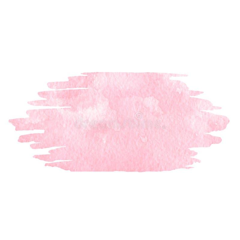 ρόδινο watercolor ανασκόπησης Χρησιμοποιήσιμος ως σύσταση για τις γαμήλιες προσκλήσεις, το σχέδιο ευχετήριων καρτών και περισσότε απεικόνιση αποθεμάτων