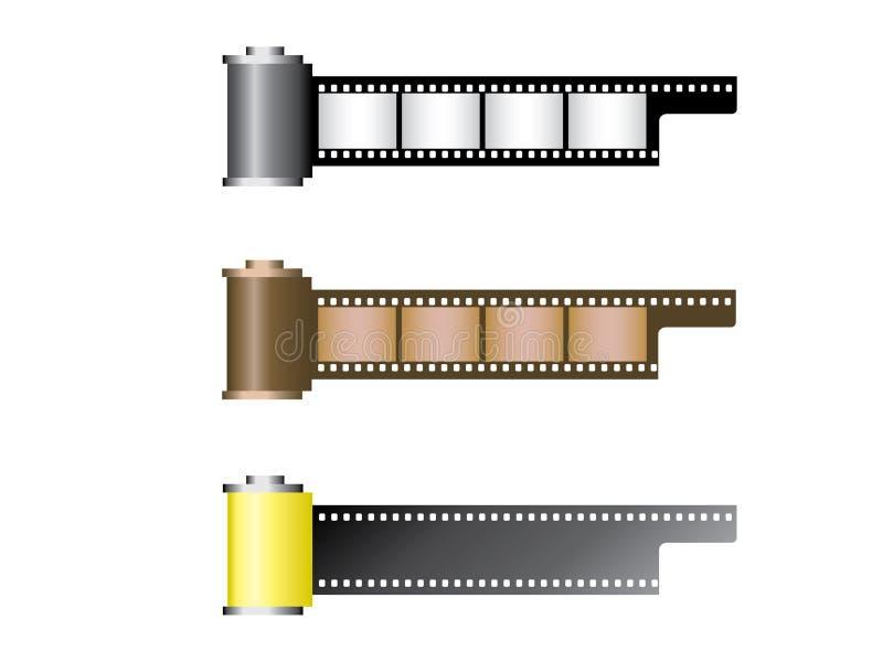 ρόλοι ταινιών διανυσματική απεικόνιση