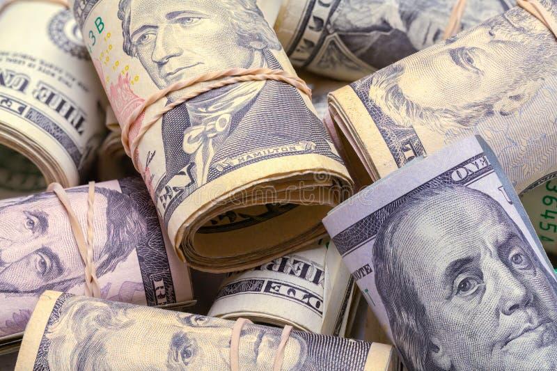 Ρόλοι των χρημάτων στο σωρό στοκ εικόνες με δικαίωμα ελεύθερης χρήσης