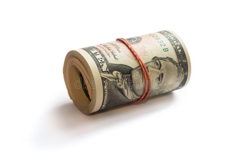ρόλος δολαρίων στοκ φωτογραφία με δικαίωμα ελεύθερης χρήσης