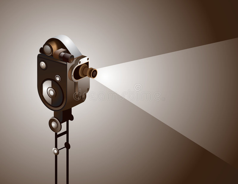 ρόλος κινηματογράφων απεικόνιση αποθεμάτων