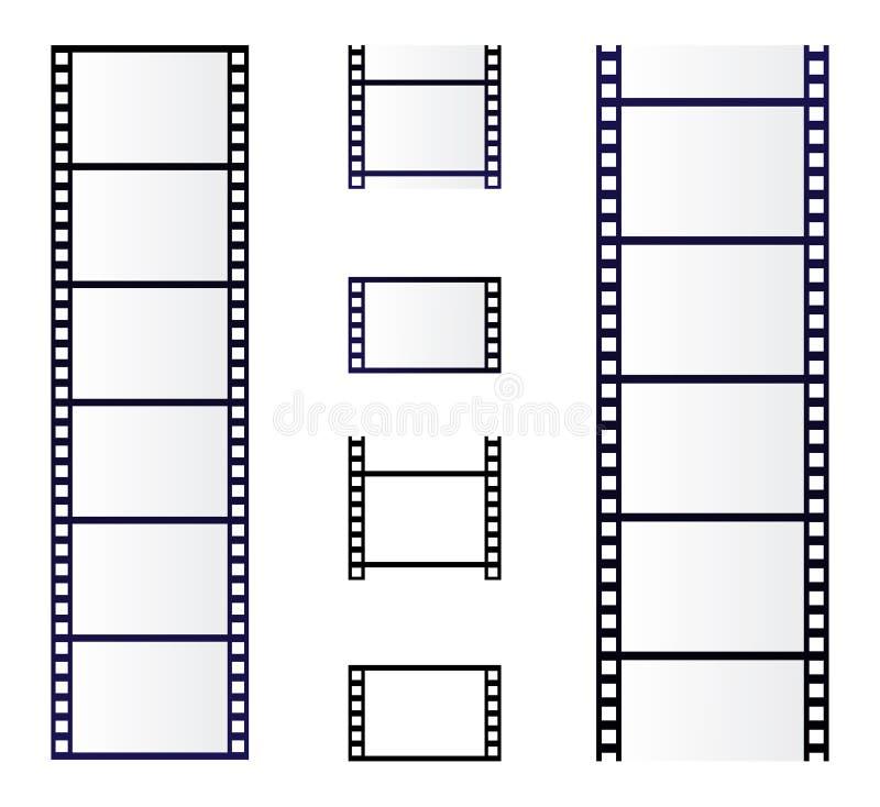 Ρόλος ταινιών διανυσματική απεικόνιση