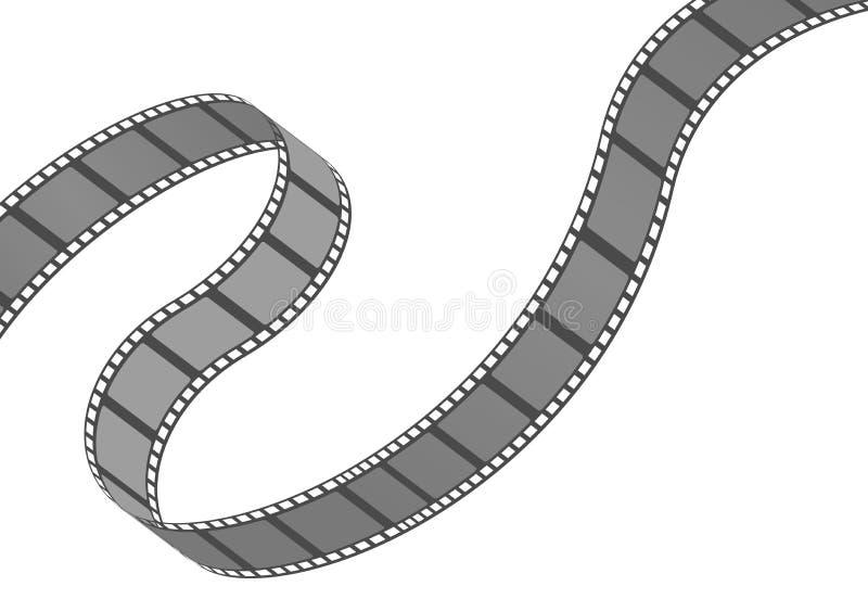 Ρόλος Filmstrip Κινηματογράφος και στοιχείο ή αντικείμενο κινηματογράφων διανυσματική απεικόνιση