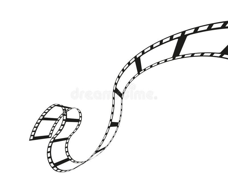 Ρόλος Filmstrip που απομονώνεται στο άσπρο υπόβαθρο απεικόνιση αποθεμάτων