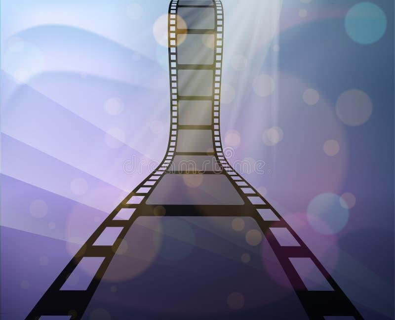 Ρόλος Filmstrip στο αφηρημένο υπόβαθρο απεικόνιση αποθεμάτων