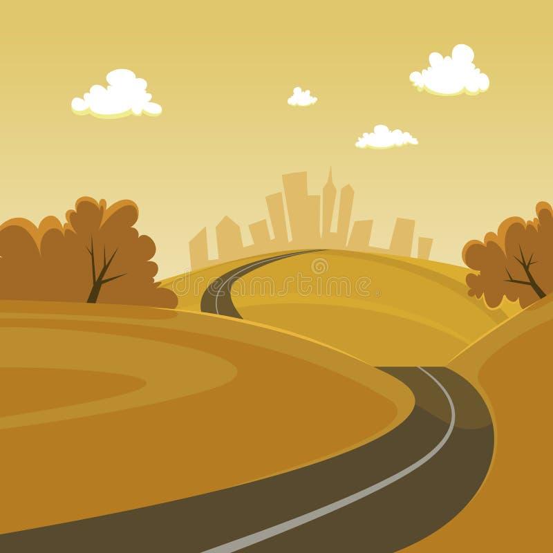 δρόμος πόλεων διανυσματική απεικόνιση