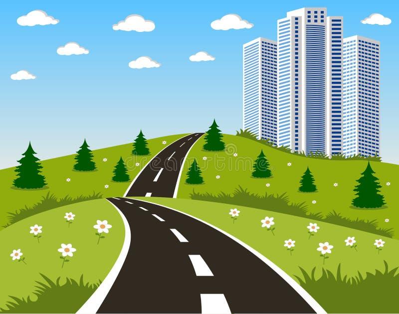 δρόμος πόλεων απεικόνιση αποθεμάτων