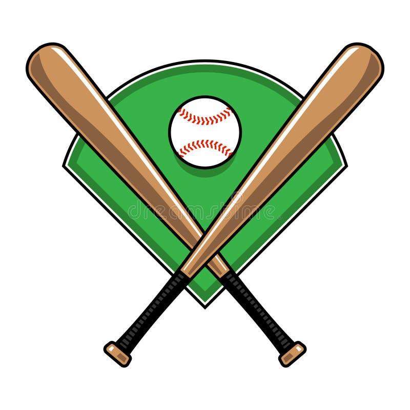 Ρόπαλα του μπέιζμπολ και σφαίρα στοκ φωτογραφία με δικαίωμα ελεύθερης χρήσης