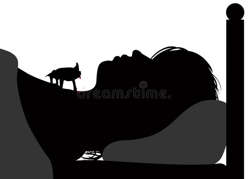 Ρόπαλο βαμπίρ απεικόνιση αποθεμάτων