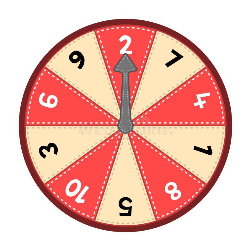 Ρόδα 1-10 αριθμού απεικόνιση αποθεμάτων