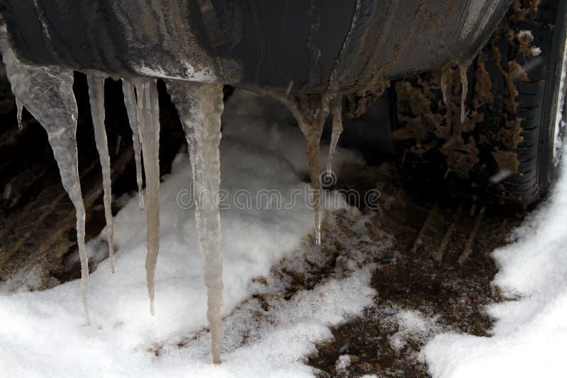 Ρόδα αυτοκινήτων το χειμώνα στοκ φωτογραφία με δικαίωμα ελεύθερης χρήσης