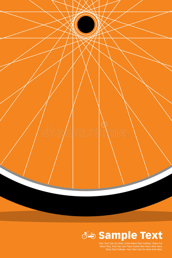 Ρόδα αφισών ποδηλάτων στοκ φωτογραφία με δικαίωμα ελεύθερης χρήσης