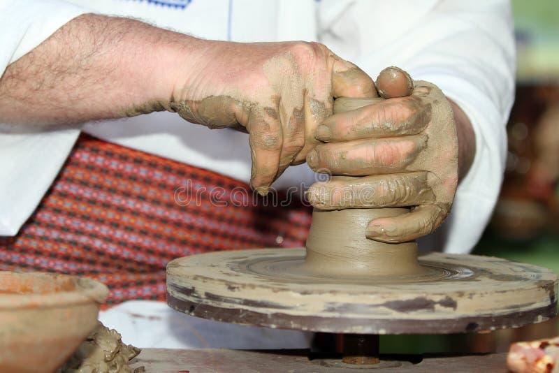 ρόδα εργαλείων αγγειοπλαστών τεχνών στοκ εικόνα με δικαίωμα ελεύθερης χρήσης