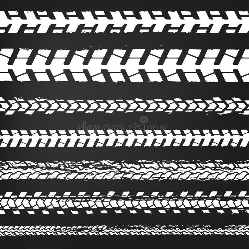 Ρόδα διαδρομή-02 μοτοσικλετών διανυσματική απεικόνιση