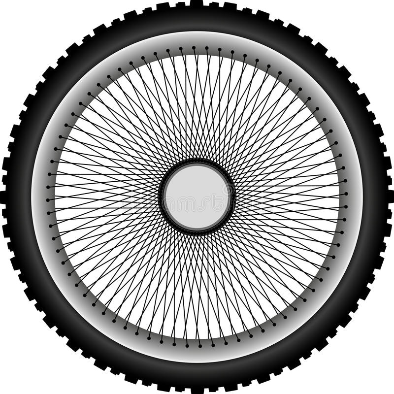 Ρόδα μοτοσικλετών απεικόνιση αποθεμάτων