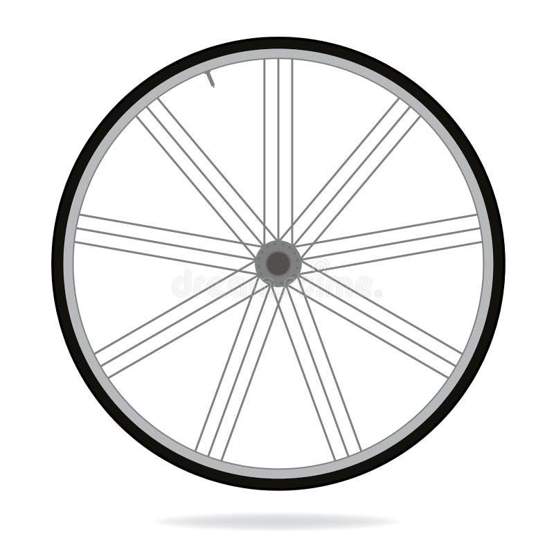 Ρόδα ποδηλάτων - διανυσματική απεικόνιση στο άσπρο υπόβαθρο διανυσματική απεικόνιση