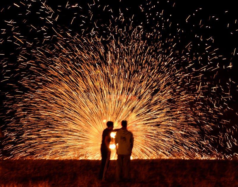 Ρόδα πυρκαγιάς σε Hanuka στοκ εικόνα με δικαίωμα ελεύθερης χρήσης
