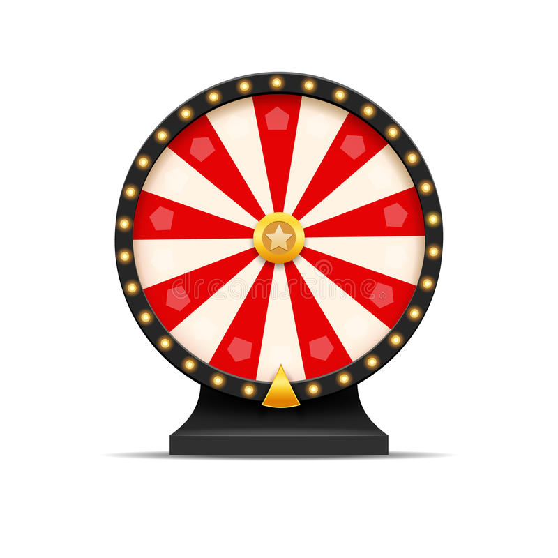 Ρόδα της απεικόνισης τύχης λαχειοφόρων αγορών τύχης Τυχερό παιχνίδι χαρτοπαικτικών λεσχών Κερδίστε τη ρουλέτα τύχης Ελεύθερος χρό διανυσματική απεικόνιση