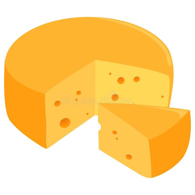 Ρόδα τυριών διανυσματική απεικόνιση